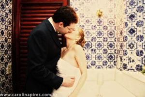 Como não poderia deixar de ter, as fotos no banheiro!