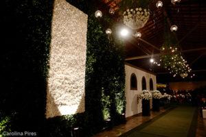 A parede TODA de flores!!!